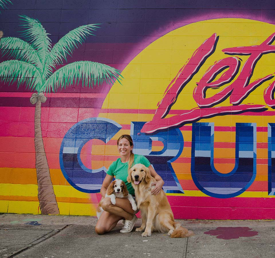 image of owner Erin Gerwig and her 2 dogs